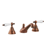 Art Deco Bathroom Taps - Low Level Spout - Cross Handles