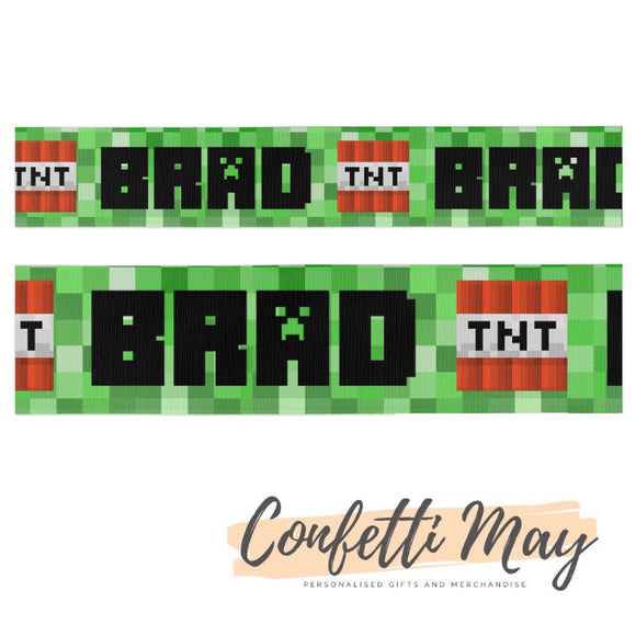 Personalised Minecraft Ribbon