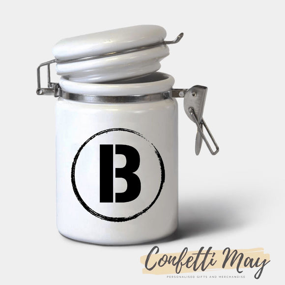 Personalised Ceramic Jar - Bold
