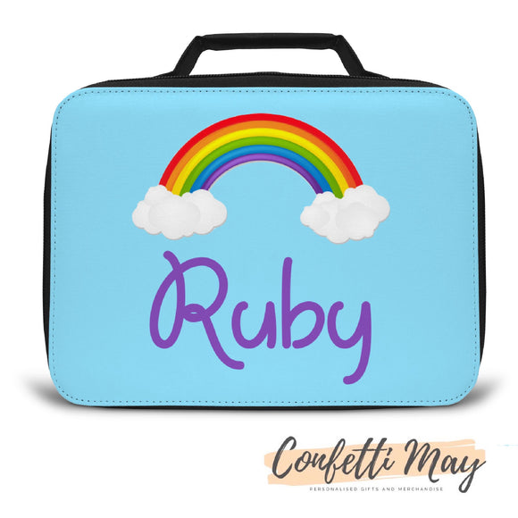 Personalised Lunch Box - Rainbows