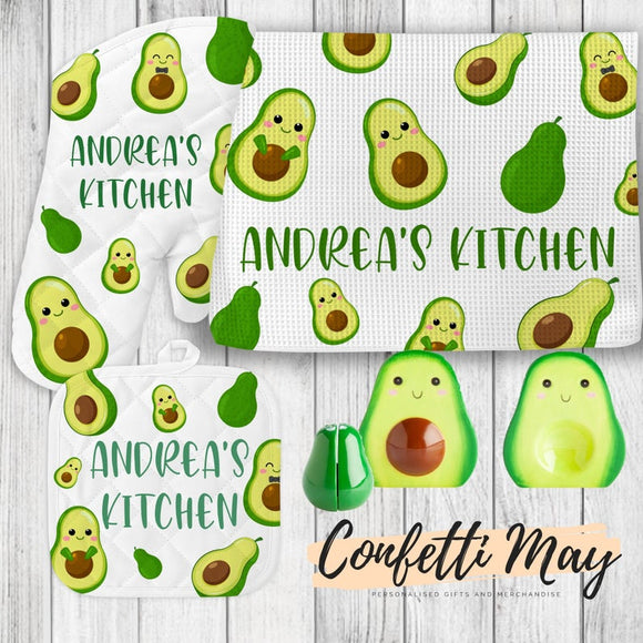 Personalised Kitchenware Gift Set - Avocado