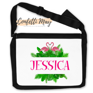 Personalised Satchel Bag - Flamingo