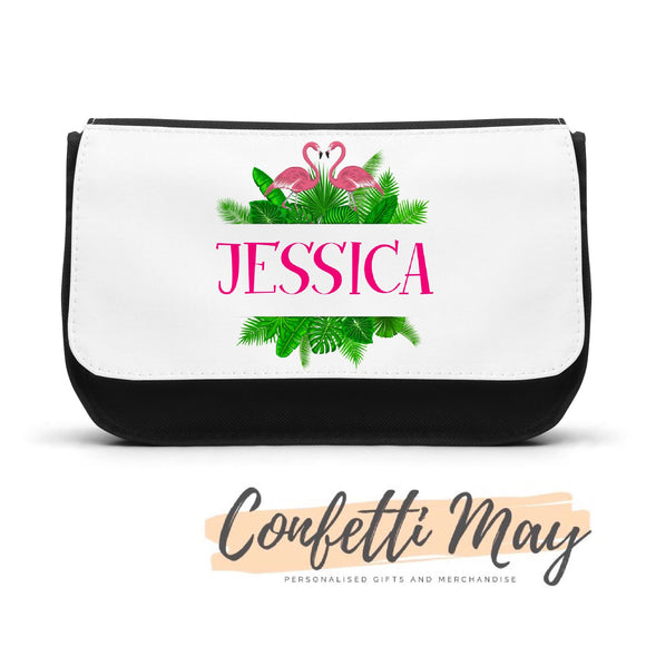 Personalised Pencil case - Flamingo