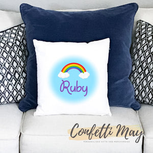 Personalised Cushion - Rainbows