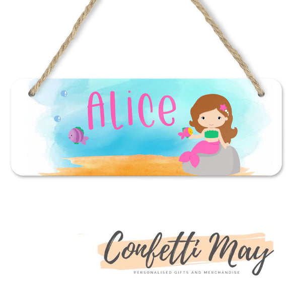 Personalised Door Sign - Mermaid