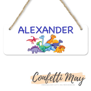 Personalised Door Sign - Dinosaur