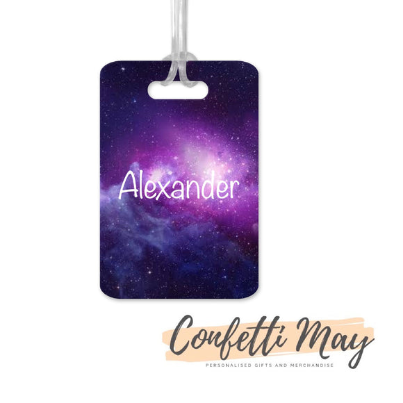 Personalised Aluminium Bag Tag - Galaxy