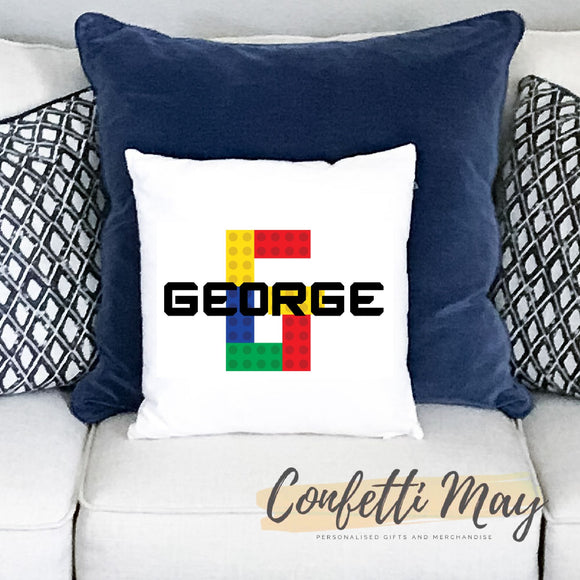 Personalised Cushion - LEGO Blocks