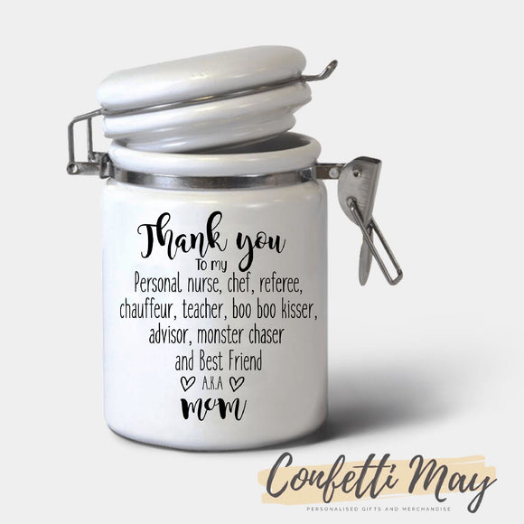 Ceramic Jar - Thank you Mum