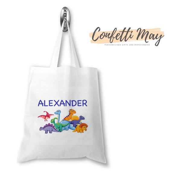 Personalised Library Bag - Dinosaur