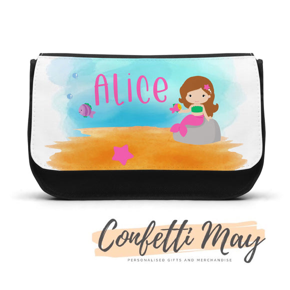 Personalised Pencil case - Mermaid