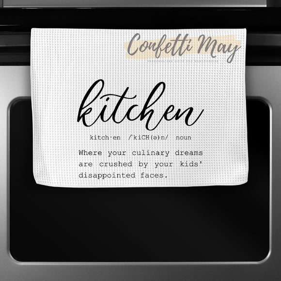 'Kitchen Definition' Tea Towel