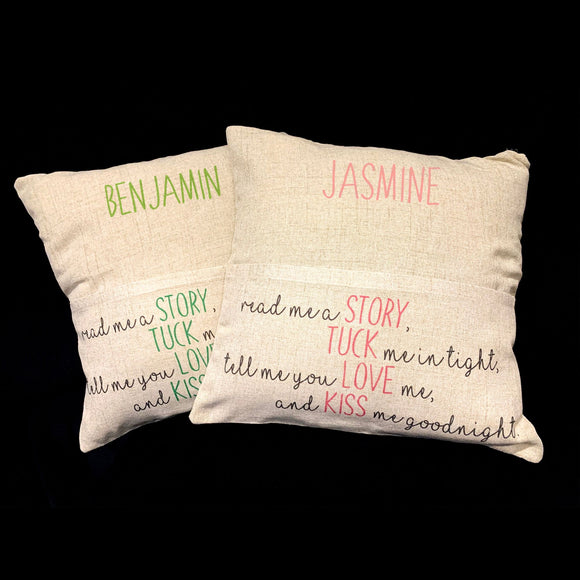 'Read me a story' Personalised Pocket Cushion