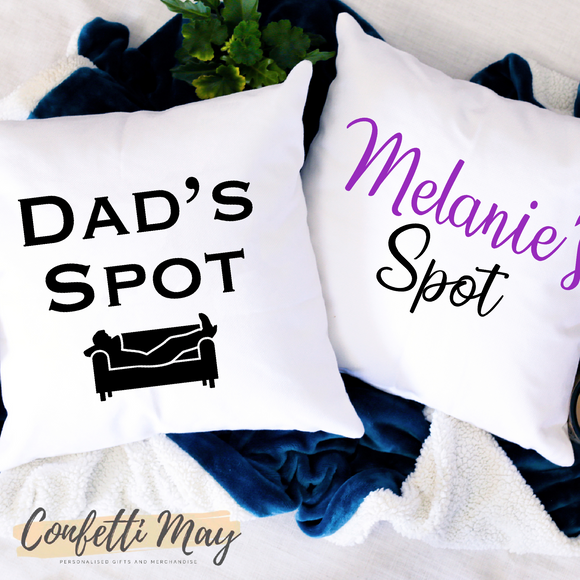 'Save your Spot' cushion