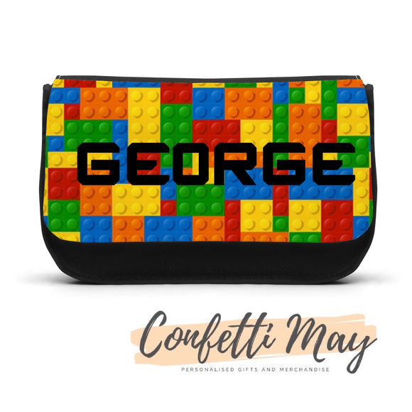 Personalised Pencil case - LEGO Blocks