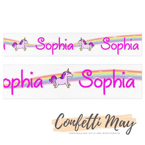 Personalised Unicorn ribbon