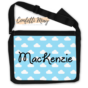 Personalised Satchel Bag - Clouds