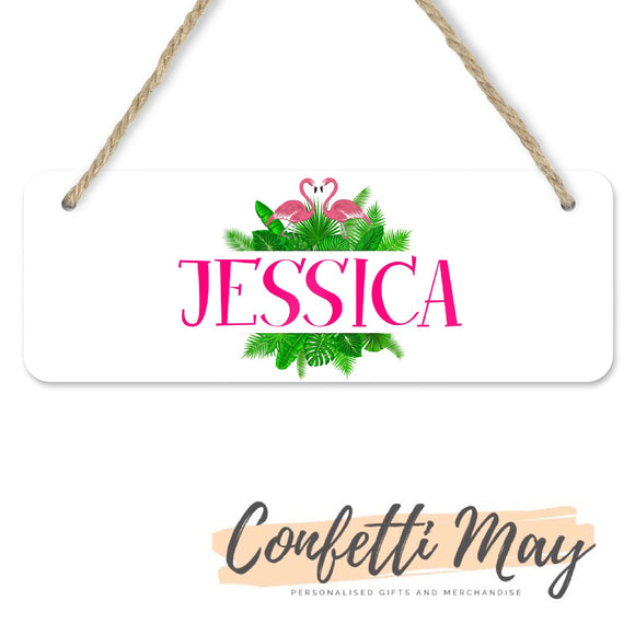 Personalised Door Sign - Flamingo