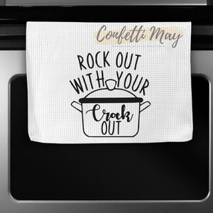 'Rock Out' Tea Towel