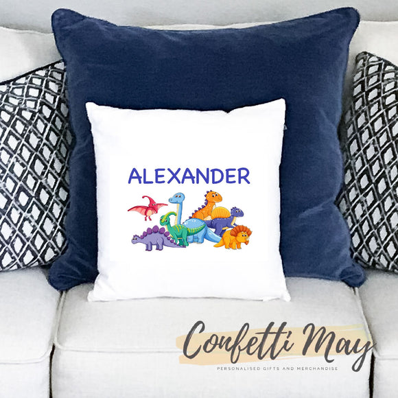 Personalised Cushion - Dinosaur