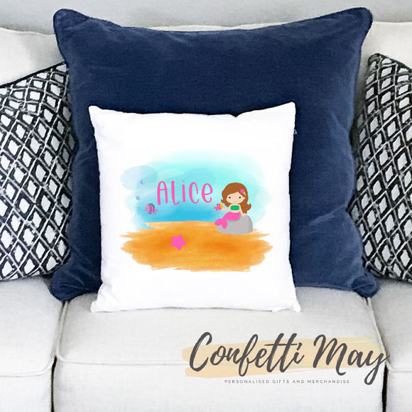 Personalised Cushion - Mermaid