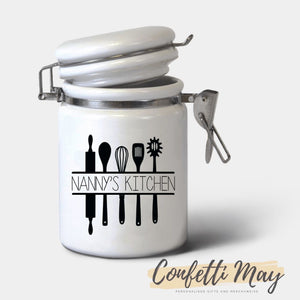 Personalised Ceramic Jar - Utensils