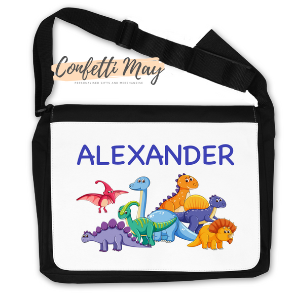 Personalised Satchel Bag - Dinosaur