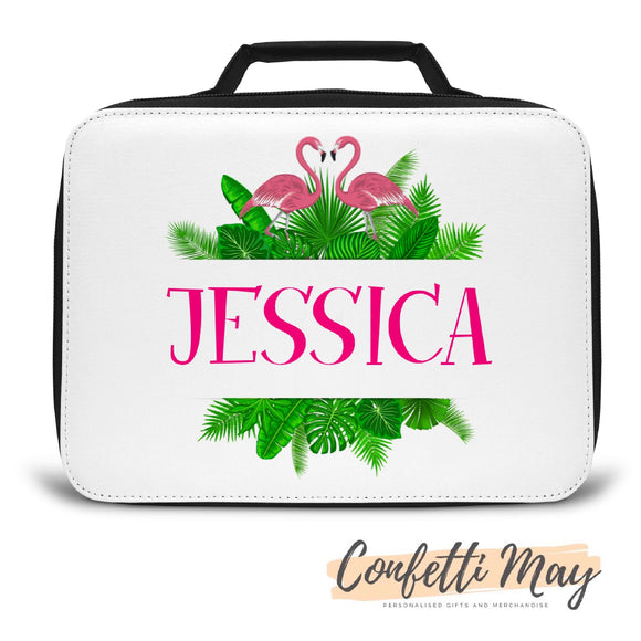 Personalised Lunch Box - Flamingo