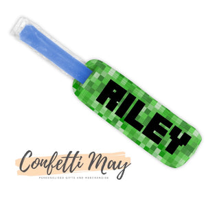Personalised Icy Pole Holder - Minecraft