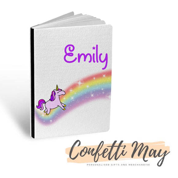 Personalised Sketch Book - Unicorn