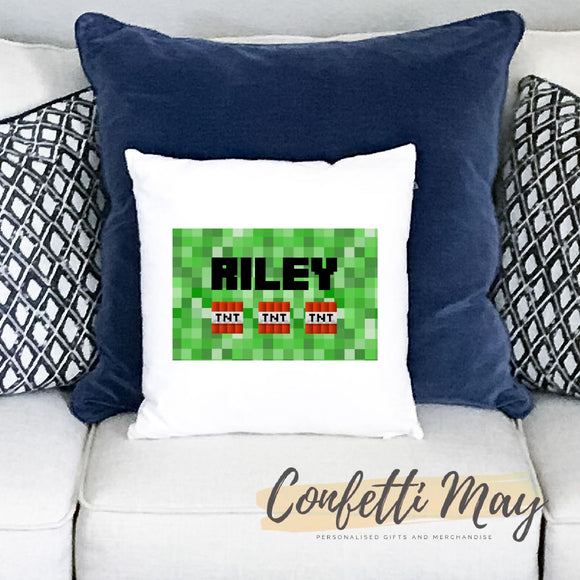Personalised Cushion - Minecraft