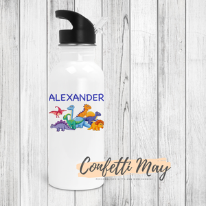 Personalised Drink Bottle - Dinosaur