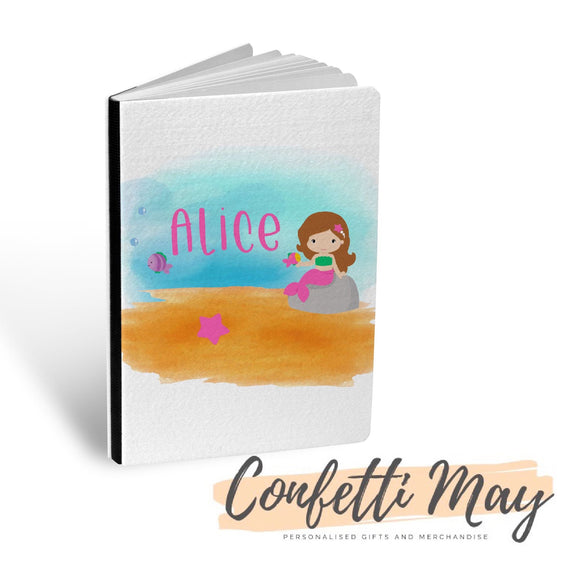 Personalised Sketch Book - Mermaid