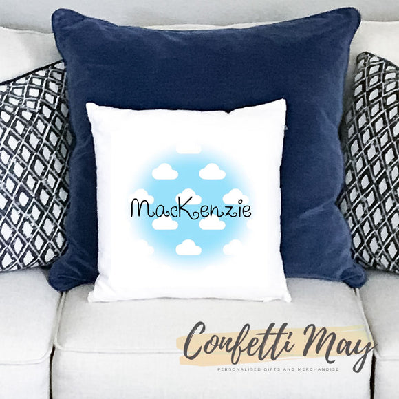 Personalised Cushion - Clouds