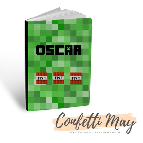 Personalised Sketch Book - Minecraft