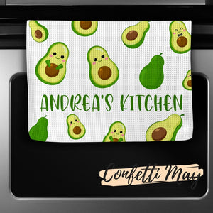 Personalised Tea Towel - Avocado