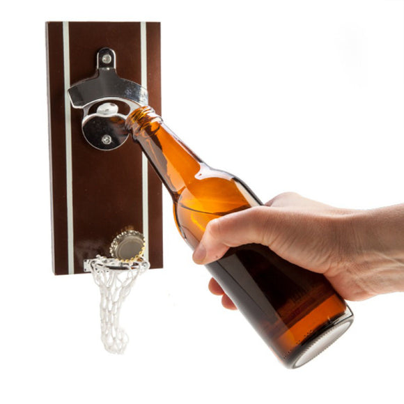Magnetic Beer Basket Bottle Opener