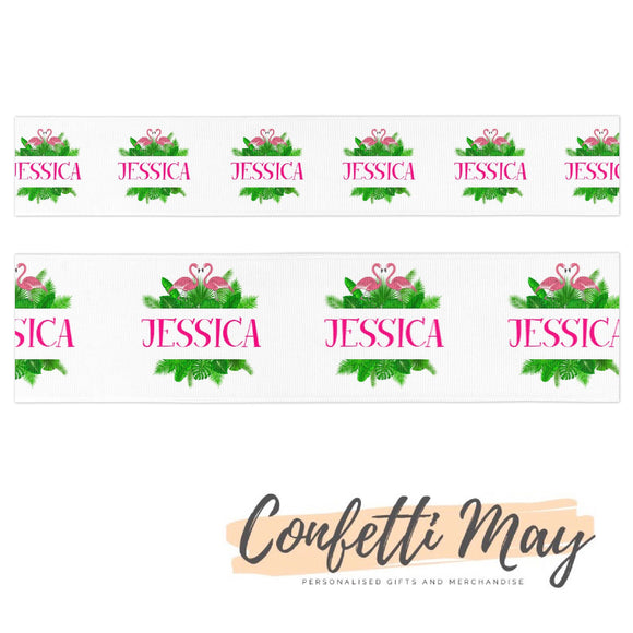 Personalised Flamingo Ribbon