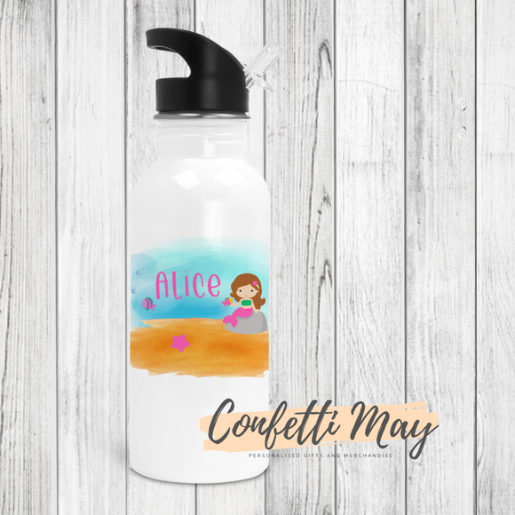 Personalised Drink Bottle - Mermaid