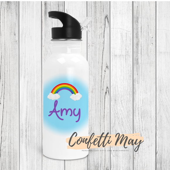 Personalised Drink Bottle - Rainbows