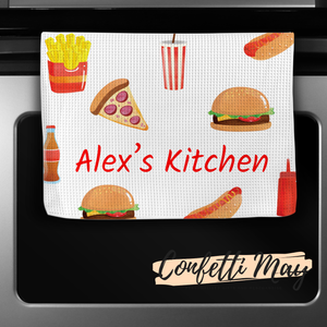Personalised Tea Towel - Takeaway