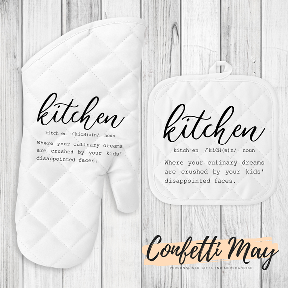 Oven Mitt and Pot Holder Set - Kitchen Definition