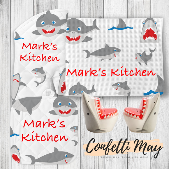 Personalised Kitchenware Gift Set - Shark