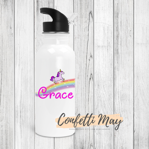 Personalised Drink Bottle - Unicorn