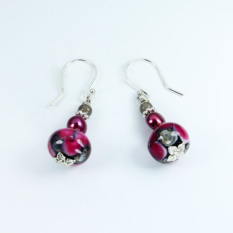 Seaviolet Pink Sea Earrings Earrings - Dragon Fire Beads Online
