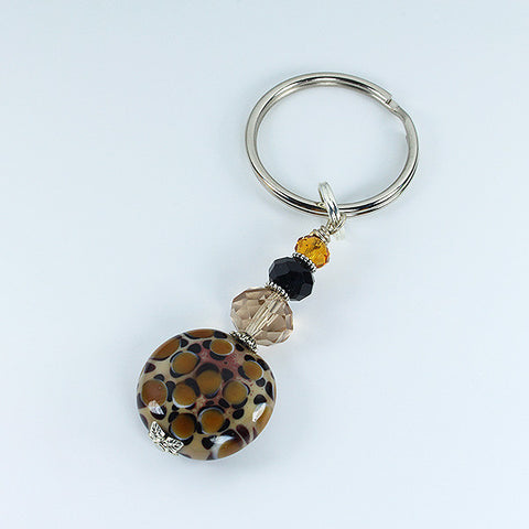Leopard Safari Keyring Accessories - Dragon Fire Beads Online