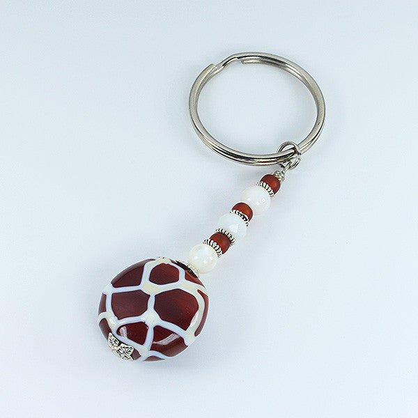 Giraffe Safari Keyring Accessories - Dragon Fire Beads Online