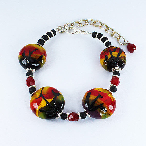 African Sunset Bracelet Bracelets - Dragon Fire Beads Online