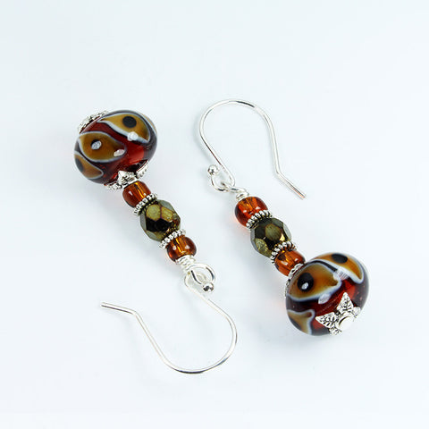 Lion's Eyes Safari Earrings Earrings - Dragon Fire Beads Online