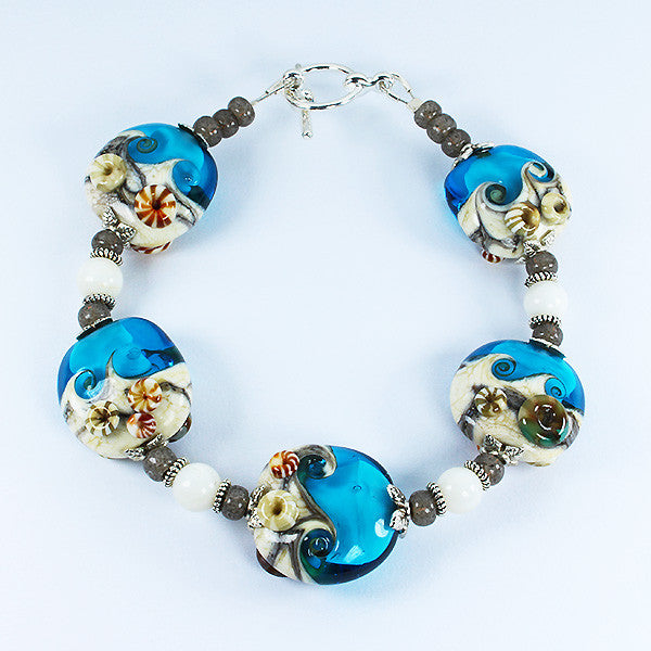 Seaside Turquoise Bracelet Bracelets - Dragon Fire Beads Online